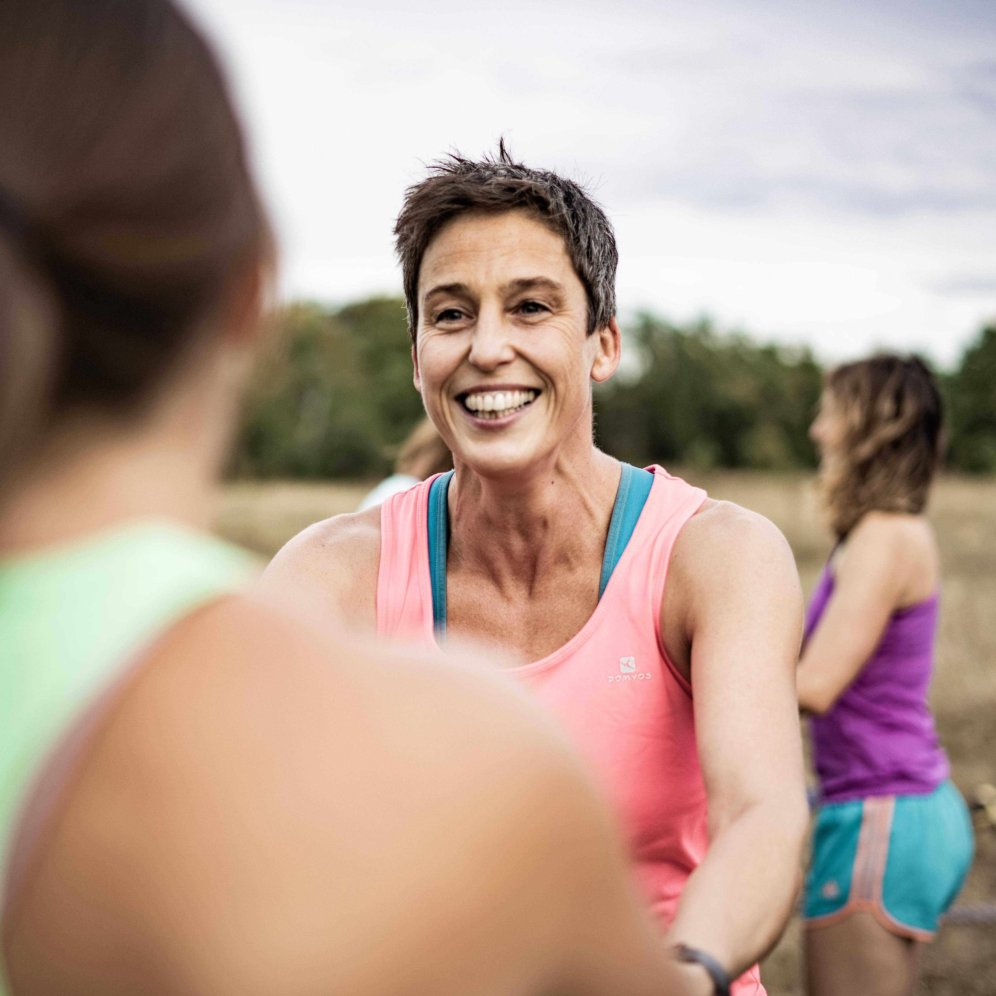 Bei unserem Outdoor Fitness Training kommt Lachen nicht zu kurz