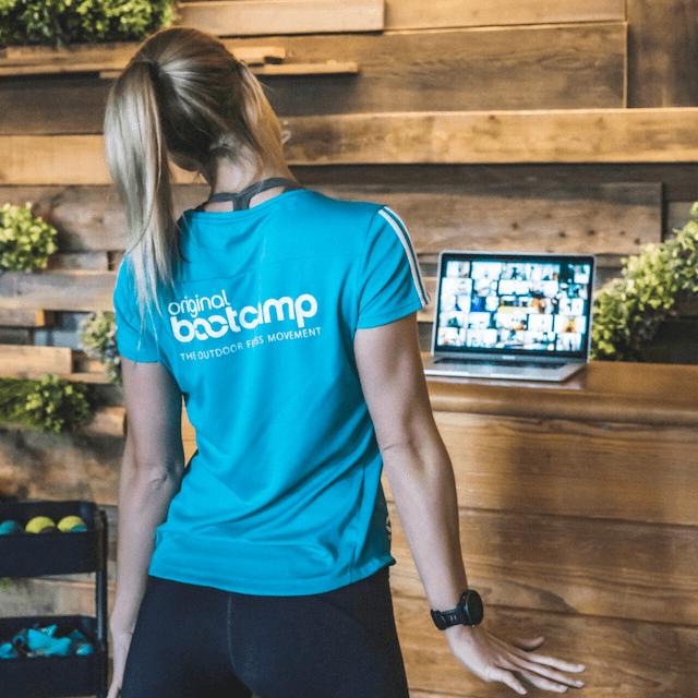 Online Fitness Training mit Zoom