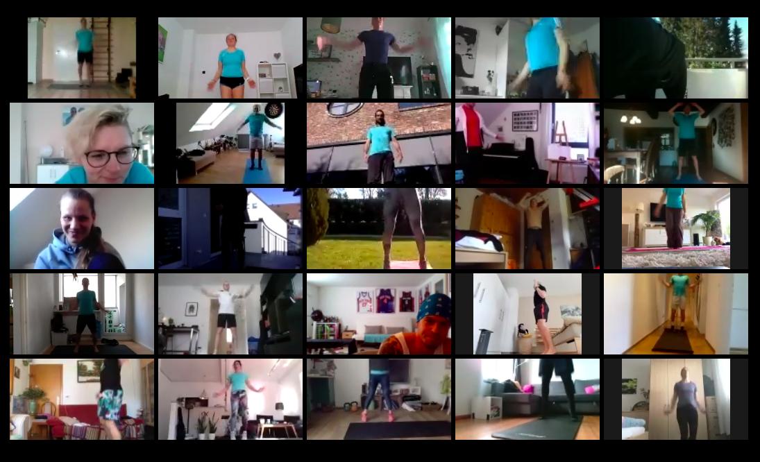 Videochat mit Online Fitness Kursen